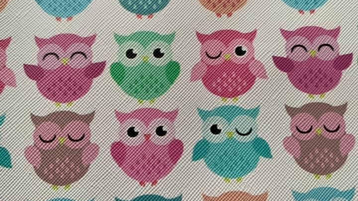 Owl faux leather sheets 22x30cm approx