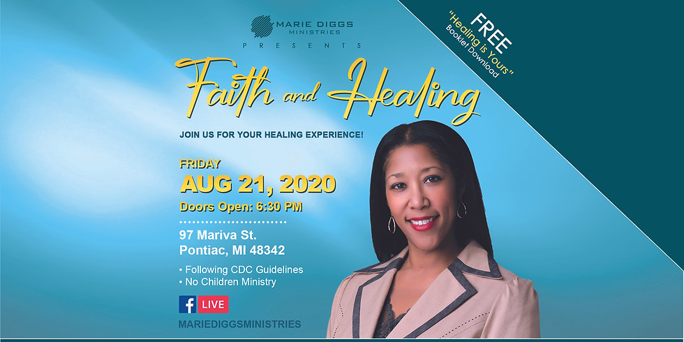 Faith & Healing Service - August 21st
