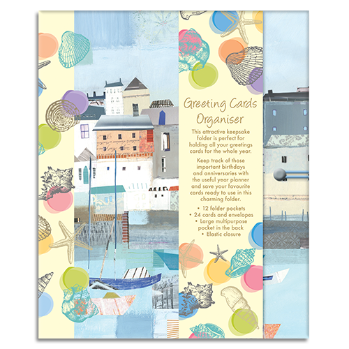 By the Sea themed Greeting Card Organiser
