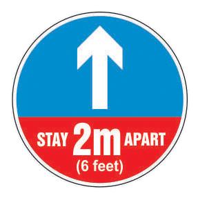 Covid-19 Floor Sticker - Pt No 0012