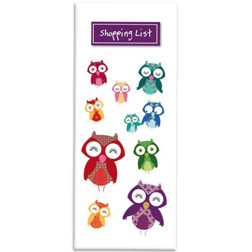 Owl themed Shopping List