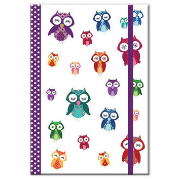 Owl themed A5 Notebook