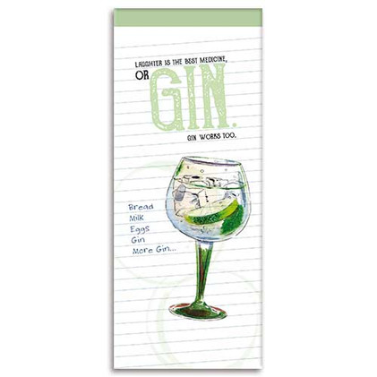 Gin themed Shopping List