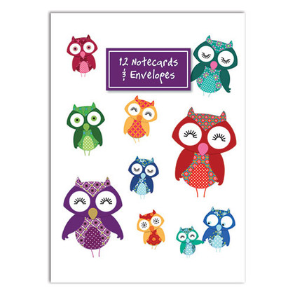 Owl themed Notecard Wallet
