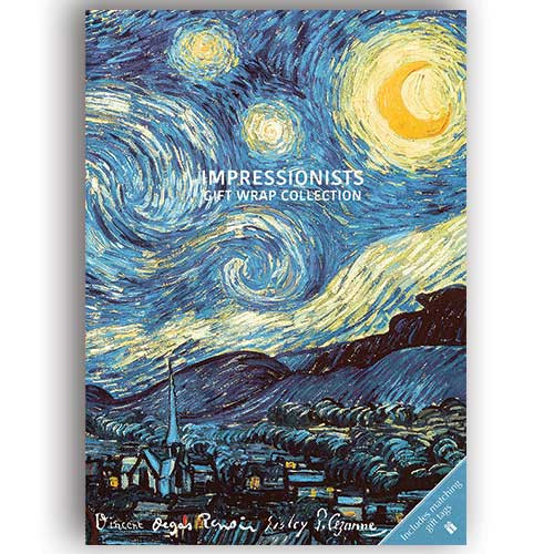 Impressionist themed Gift Wrap