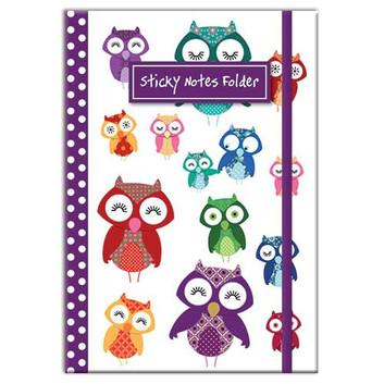 Owl themed Sticky Notes Folder