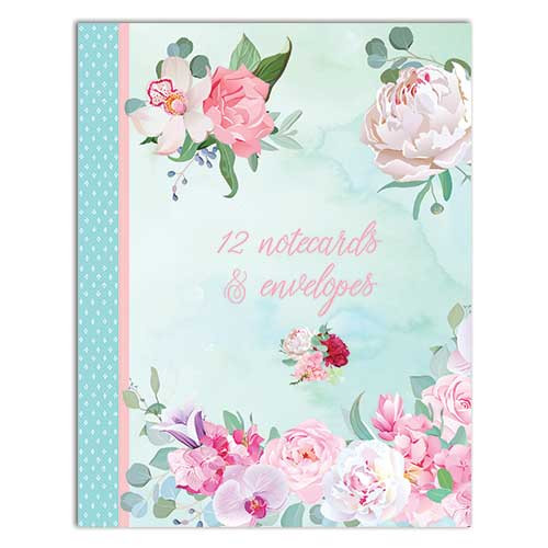 Belle Fleurs themed Notecard Wallet