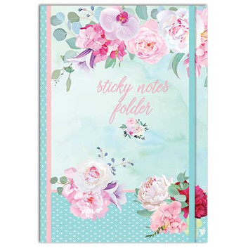 Belles Fleurs themed Sticky Notes Folder
