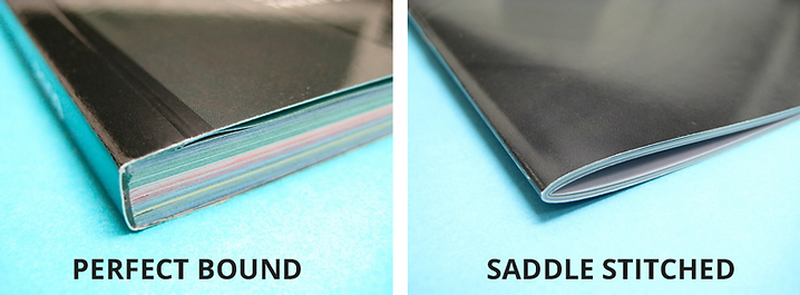 Perfect Bound and saddle stiched booklet