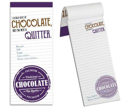 Chocolate themed Shopping List
