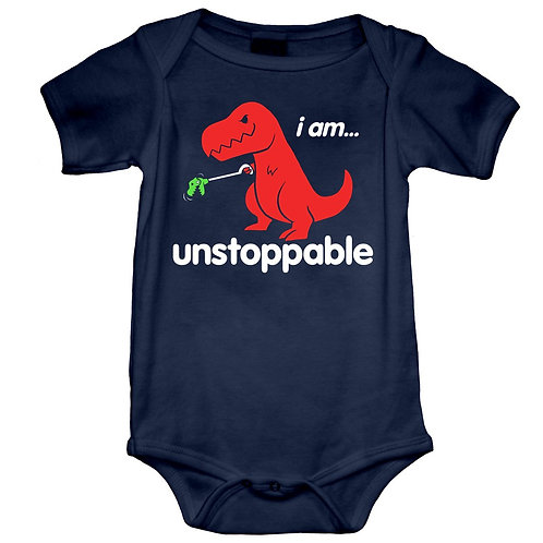 Unstoppable Dino Onesie (6-12 Months)