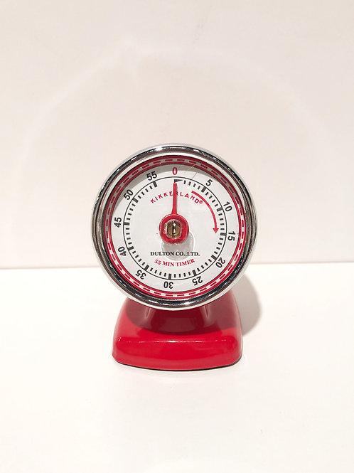 Vintage Streamline Kitchen Timer (Red)