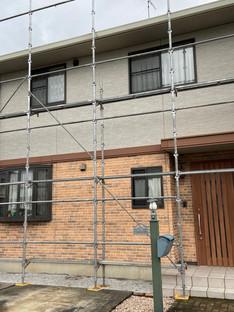 深谷市での外壁塗装工事が始まりました!