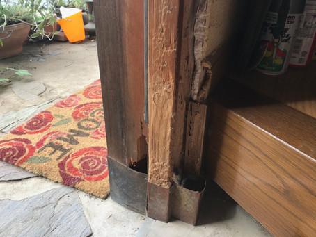 坂戸市 玄関ドア補修塗装