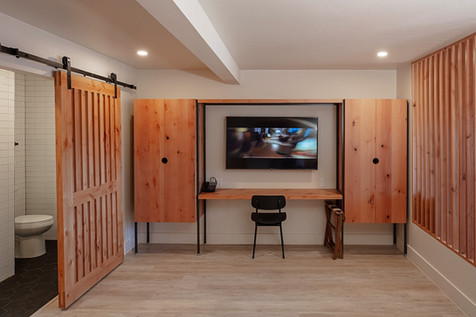 Each Room Features a Wardrobe and Work Desk