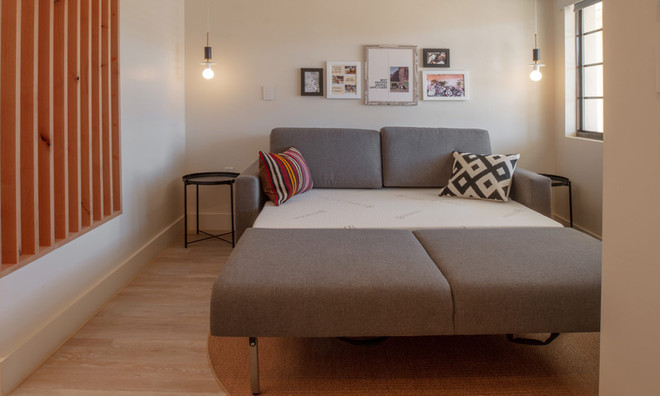Standard Room: Sofa bed fully extended