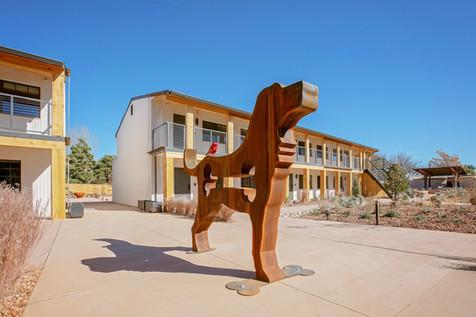 Roadhouse Grounds with Sculpture by Dale Evans