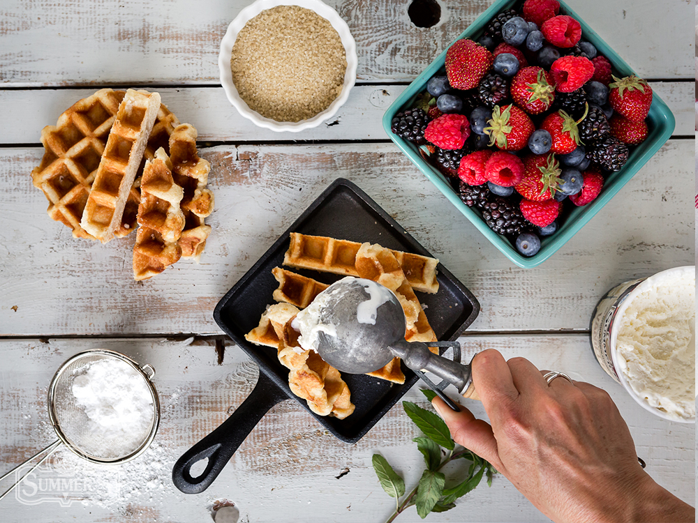 Summer Berry Waffles Plating