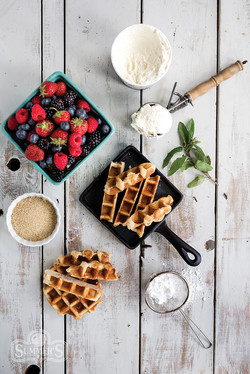Summer Berry Waffles Plating
