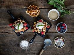 Summer Berry Waffles