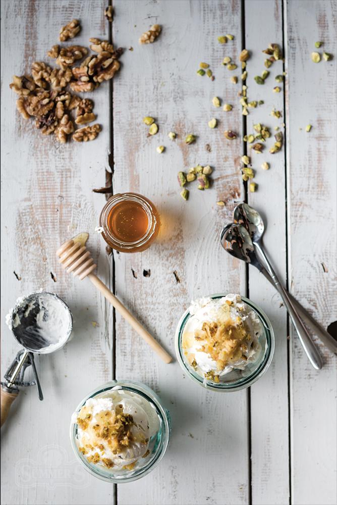 Honey Pistachio Baklava Sundae