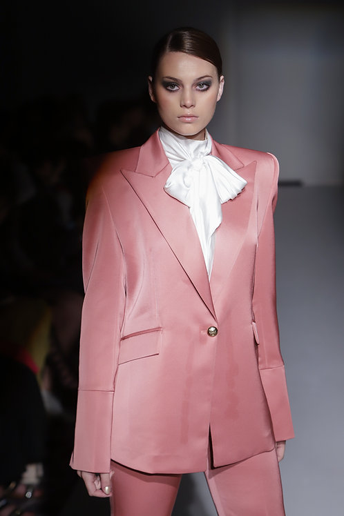 Strong Shoulder Pink Suit Set
