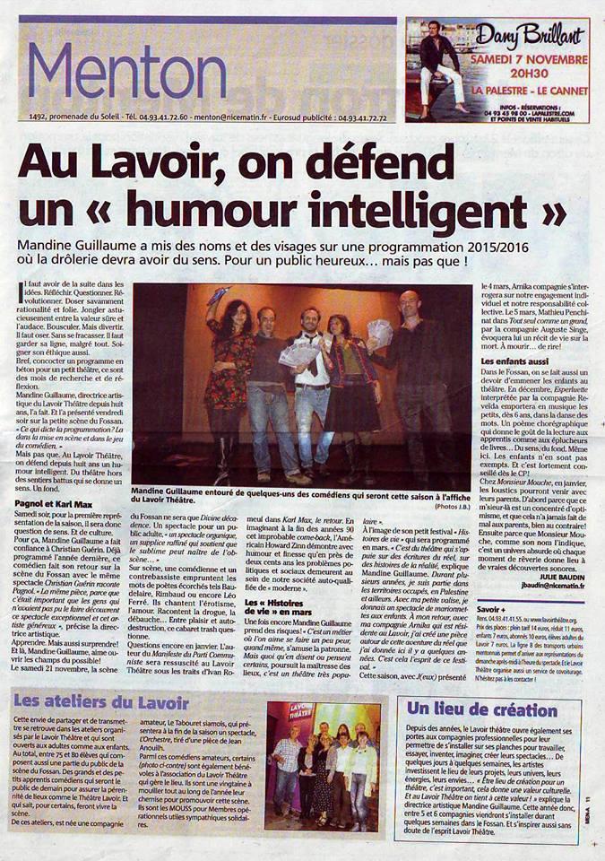 CGRP au Lavoir Théâtre