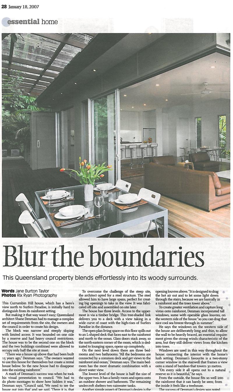 Sydney Morning Herald - Janurary 200