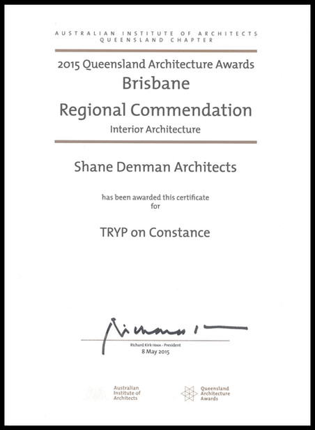 AIA Awards | TRYP on Constance
