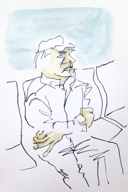 Vieil homme dans le bus