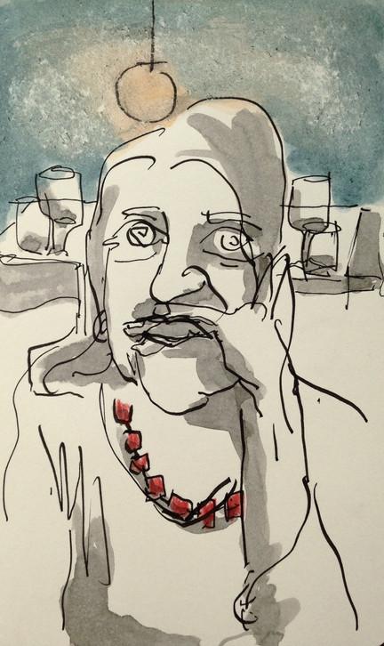 Femme au restaurant