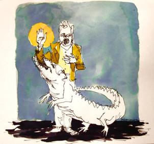 La vérité, l'homme et le crocodile