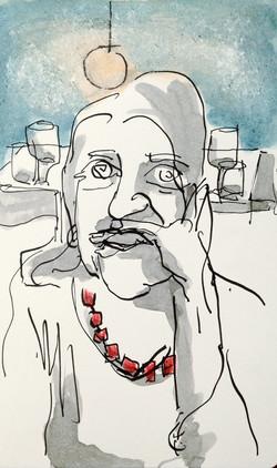 Femme a restaurant