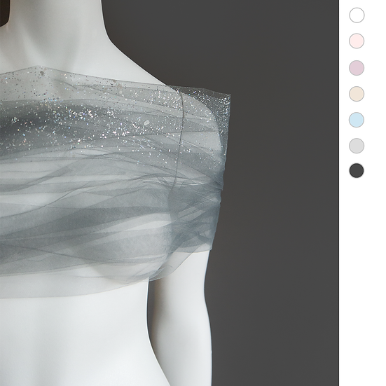 TRINITY Glitter Veil Shrug