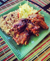 rice and beans, rice and peas