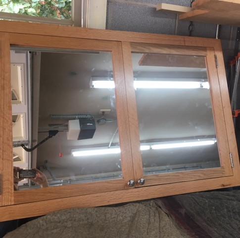Red Oak Flush mount Medicine Cabinet