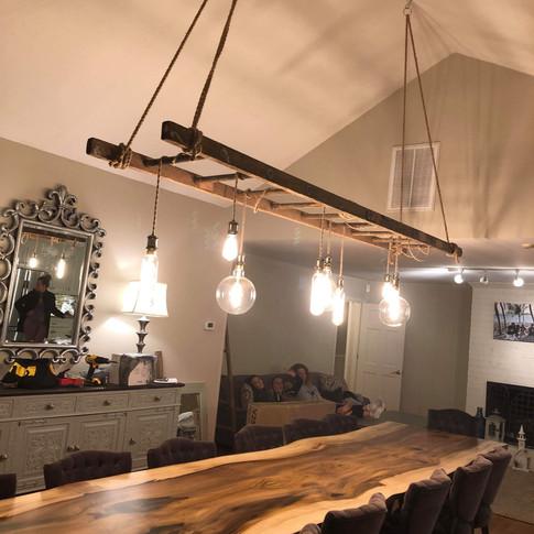 Poplar Live Edge Dining Table