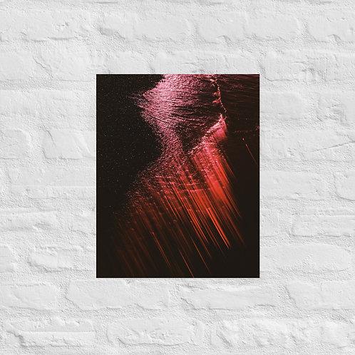 Crash Here - Photo paper poster