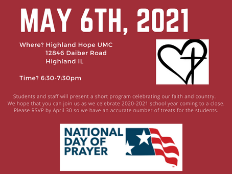 Join us in celebrating National Day of Prayer at Highland Hope UMC
