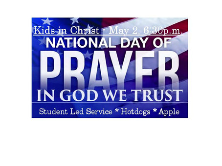 National Day of Prayer - Student Led Service