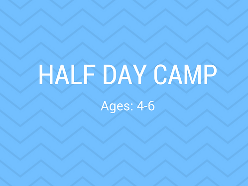 2020 1/2 Day Camp June 29-July 2 (no camp on the 3rd)