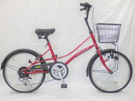かわいい自転車です、ウエルビーrivage ST 20インチ 6段変速 レッドRVST06