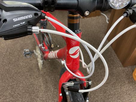 ブレーキとシフターのワイヤー交換