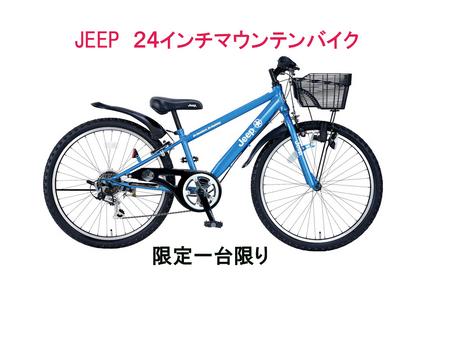 JEEPのキッズ用マウンテンバイクJE24S 限定入荷