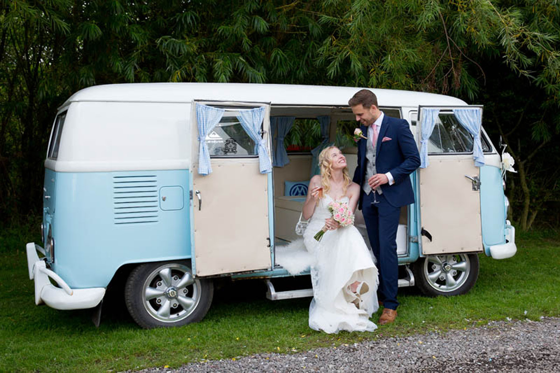 Yorkshire campervan for a Wedding car