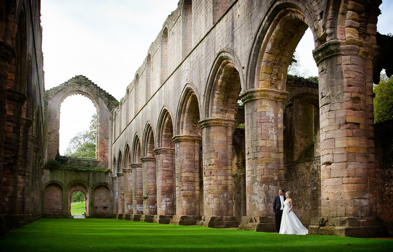 Fountains Abbey Wedding Photography by P