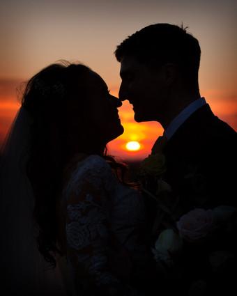 Yorkshire wedding photographer sunset.jp