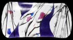 clear confeti plate