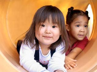 Kids in Slide