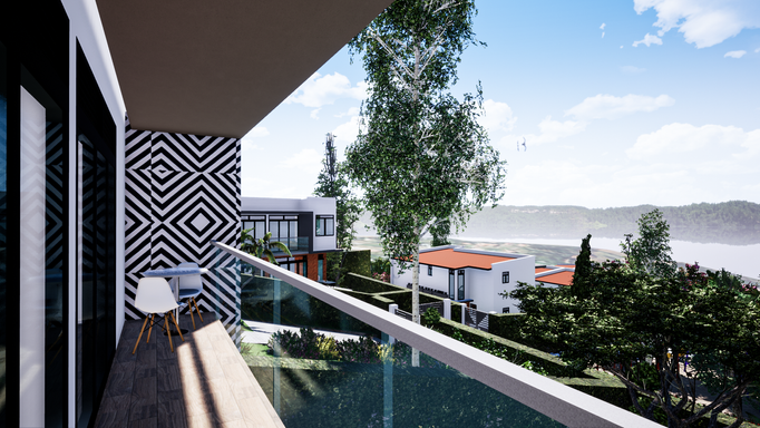 Balcony Isange estate Kigali